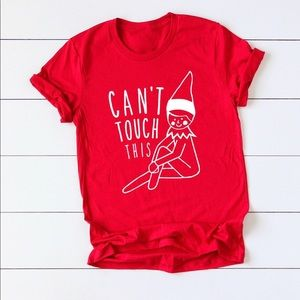 Elf on the shelf graphic T-shirt's